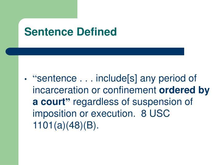 Sentence Defined