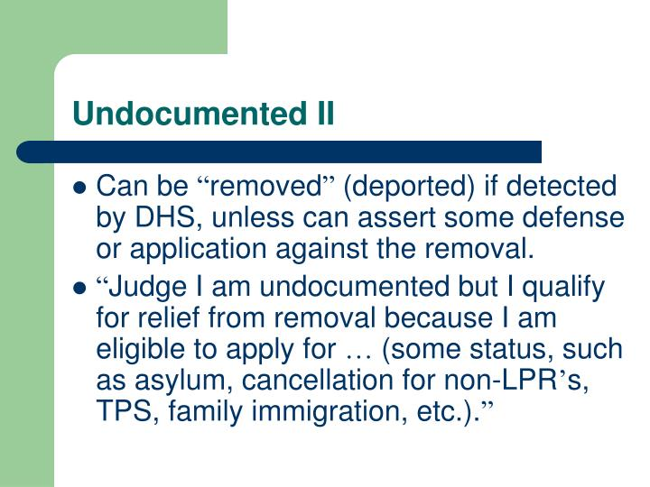Undocumented II