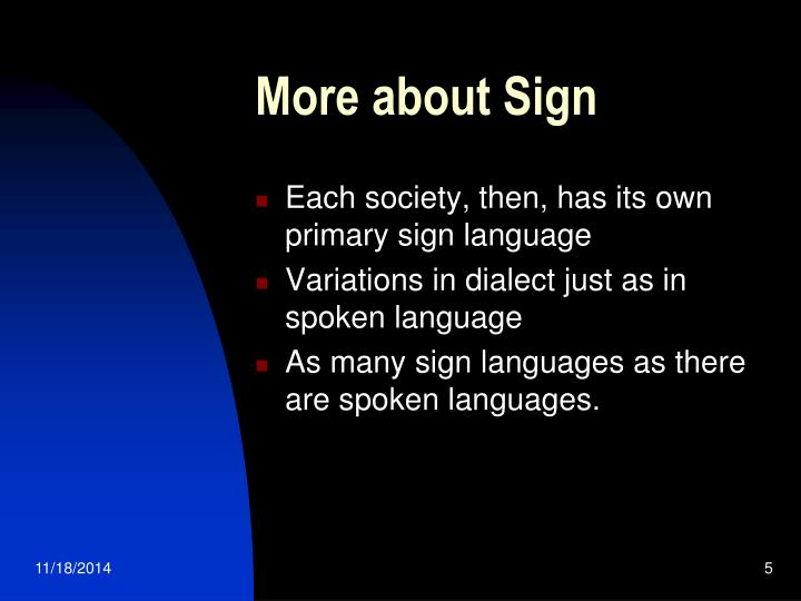 More about Sign
