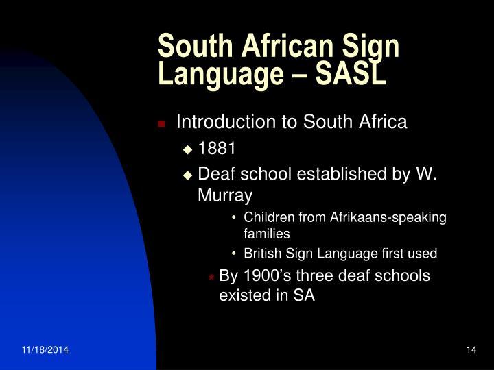 South African Sign Language – SASL