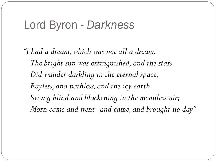 Lord Byron -