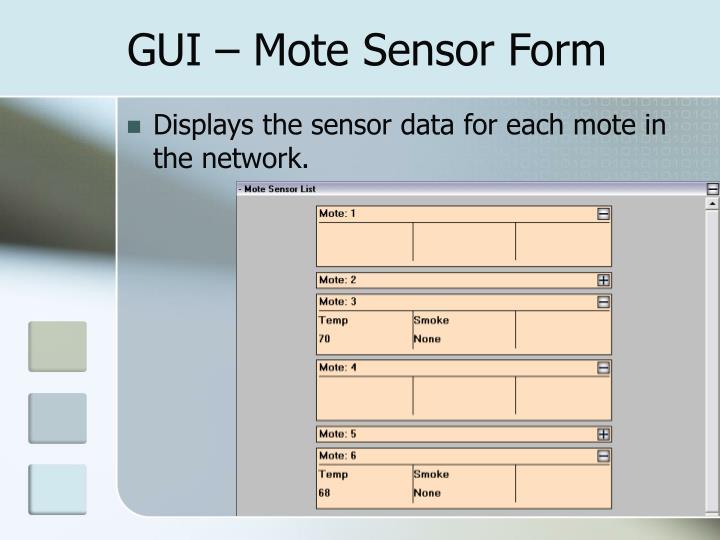 GUI – Mote Sensor Form
