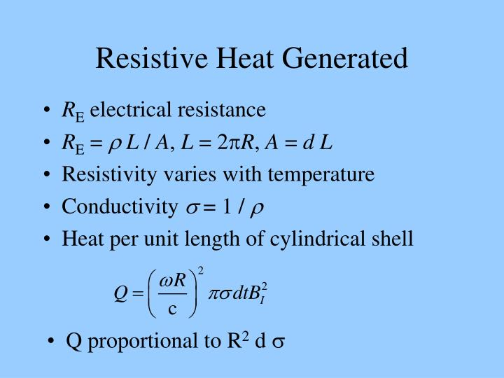 Resistive Heat Generated