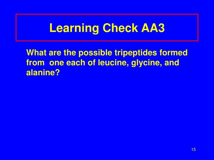Learning Check AA3