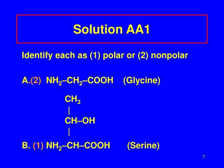 Solution AA1