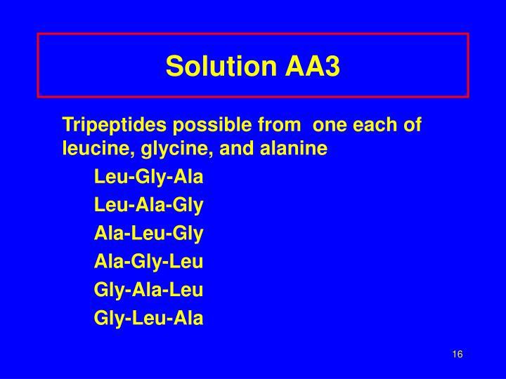 Solution AA3
