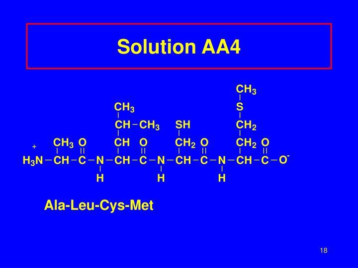 Solution AA4