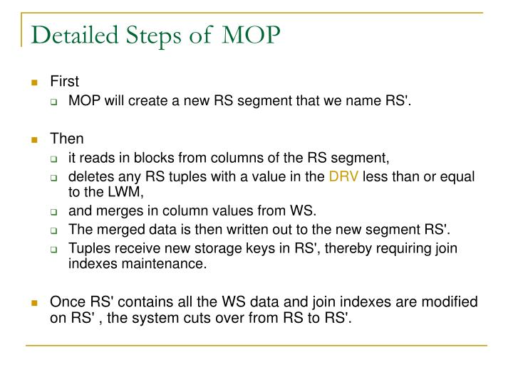 Detailed Steps of MOP