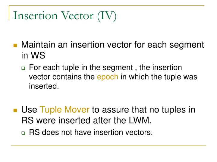Insertion Vector (IV)
