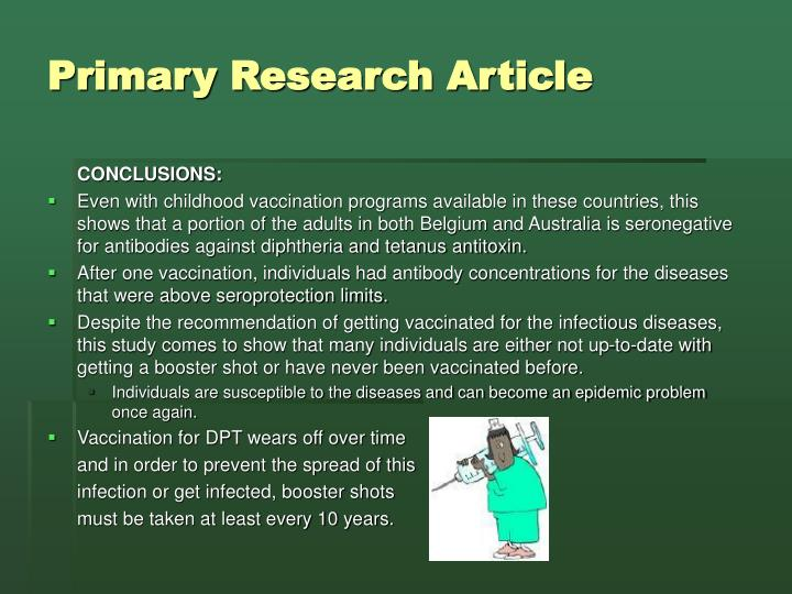Primary Research Article