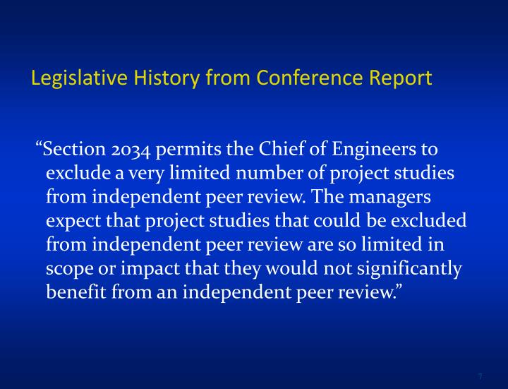 Legislative History from Conference Report