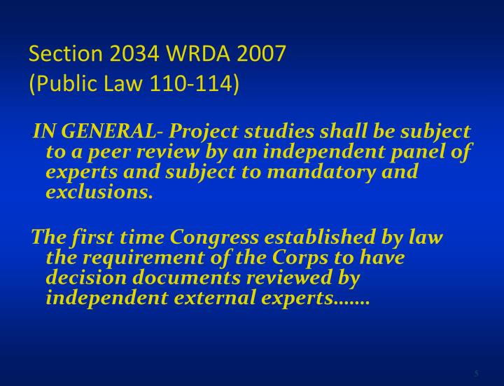 Section 2034 WRDA 2007