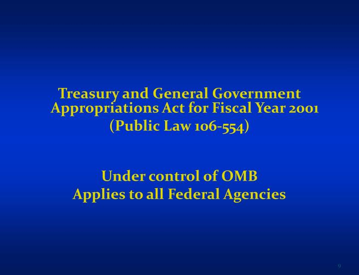 Treasury and General Government Appropriations Act for Fiscal Year 2001