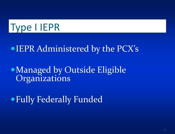 Type I IEPR