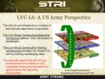 lvc ia a us army perspective