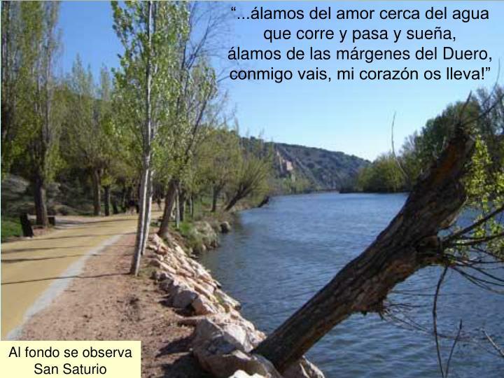 ...lamos del amor cerca del agua