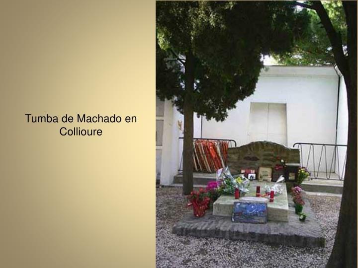 Tumba de Machado en Collioure