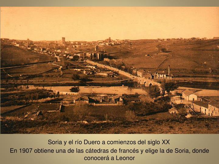 Soria y el ro Duero a comienzos del siglo XX