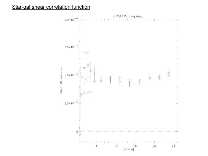 Star-gal shear correlation function
