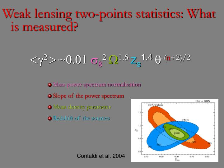 Weak lensing two-points statistics: What is measured?
