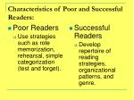 characteristics of poor and successful readers1