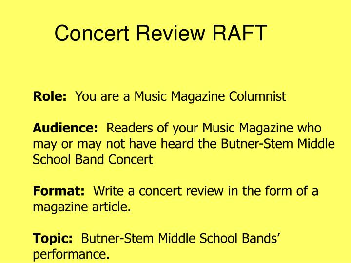 Concert Review RAFT