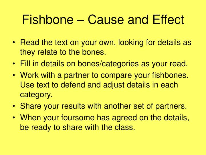 Fishbone – Cause and Effect