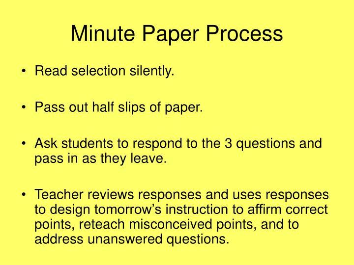 Minute Paper Process