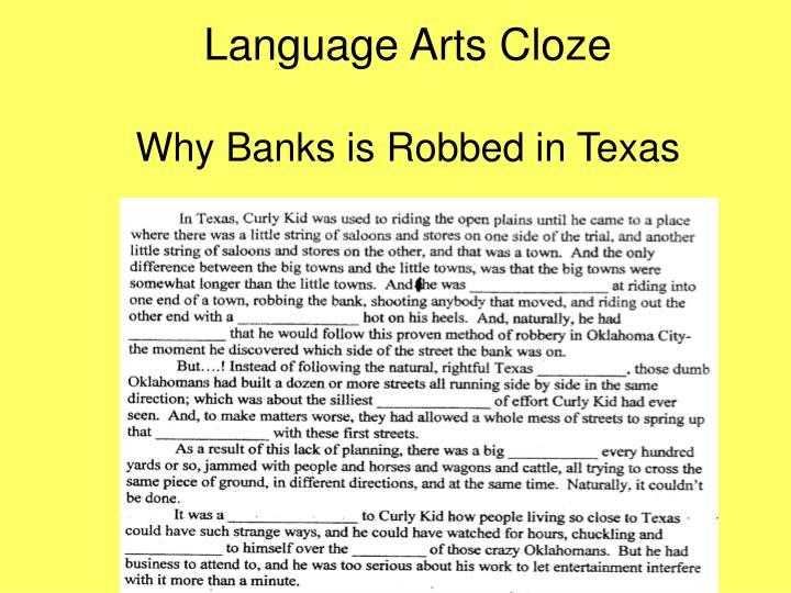 Language Arts Cloze