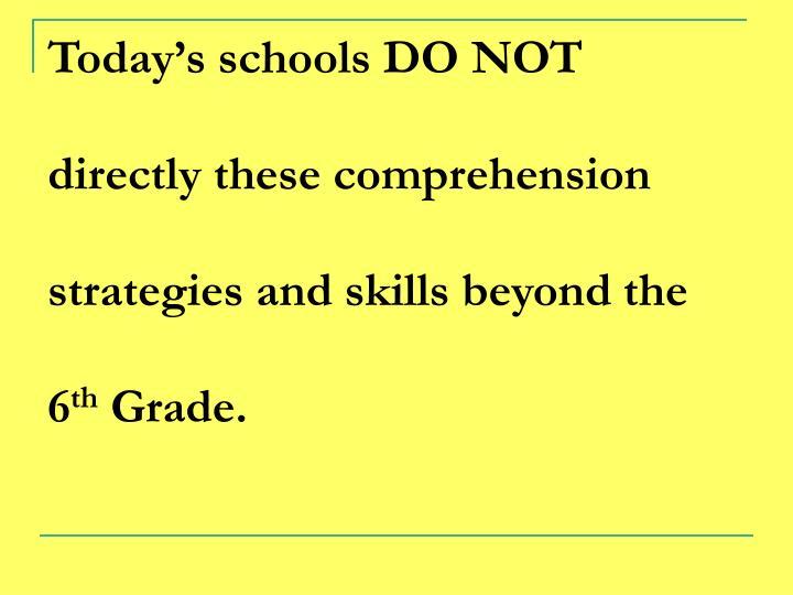 Today's schools DO NOT