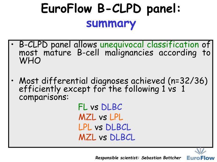 EuroFlow B-CLPD panel: