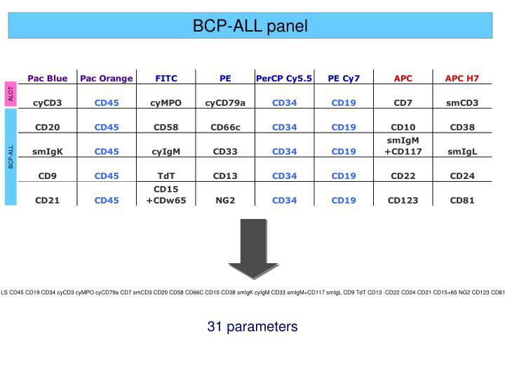 BCP-ALL panel