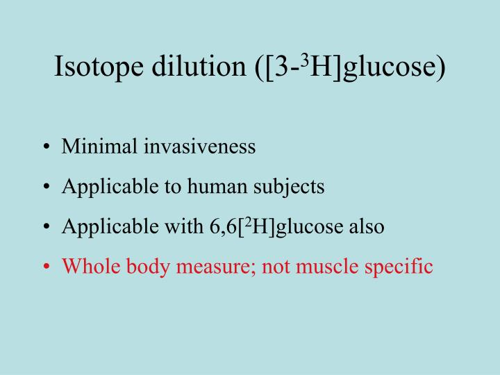 Isotope dilution ([3-