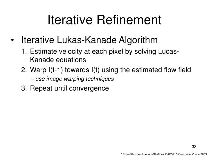Iterative Refinement