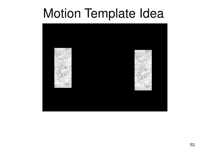 Motion Template Idea