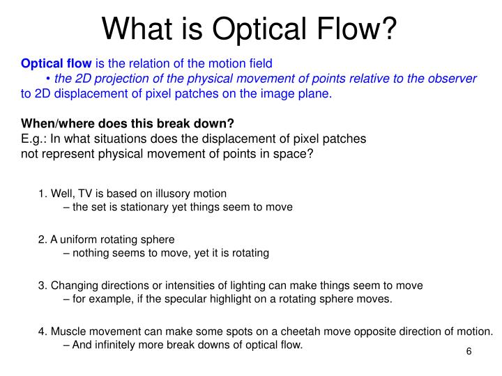What is Optical Flow?