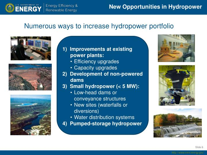 New Opportunities in Hydropower