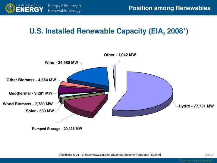 Position among Renewables