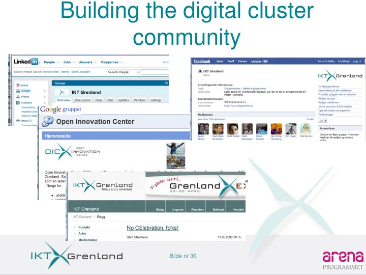 Building the digital cluster community