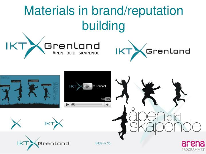 Materials in brand/reputation building