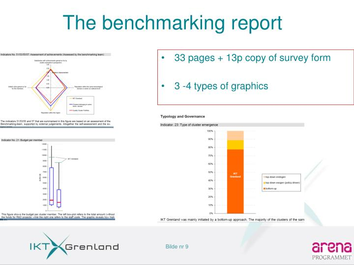 The benchmarking report