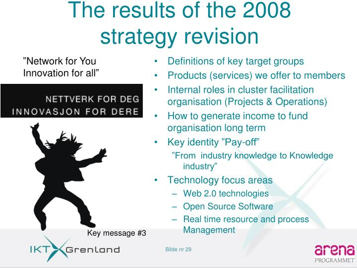The results of the 2008 strategy revision