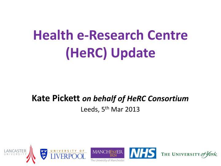 Health e-Research Centre