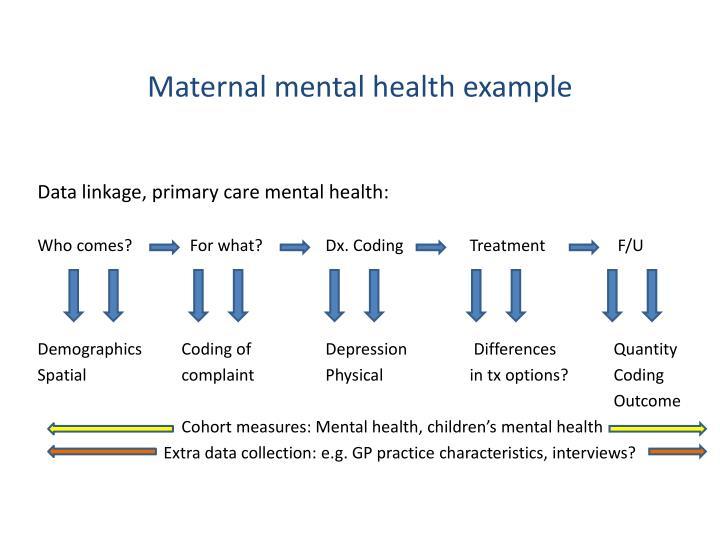 Maternal mental health example
