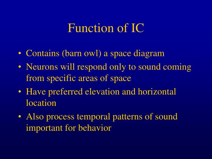 Function of IC
