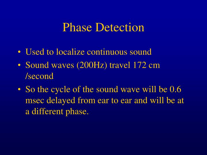 Phase Detection