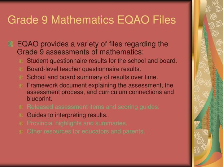 Grade 9 mathematics eqao files1