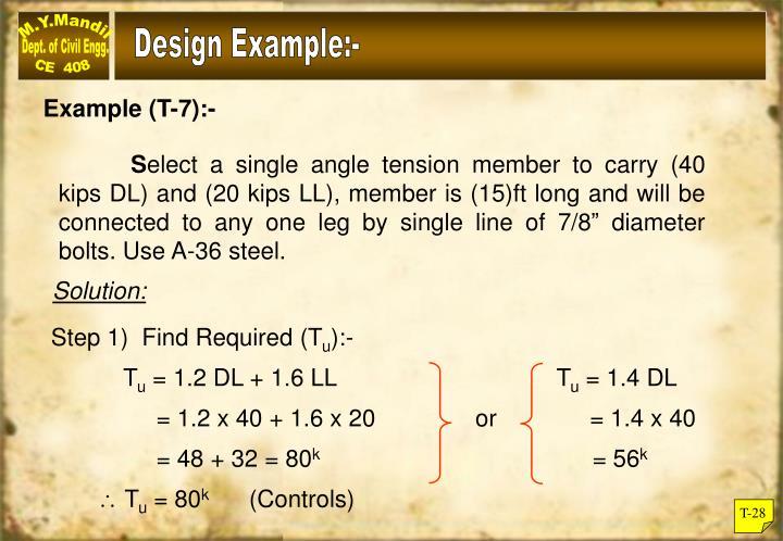Design Example:-