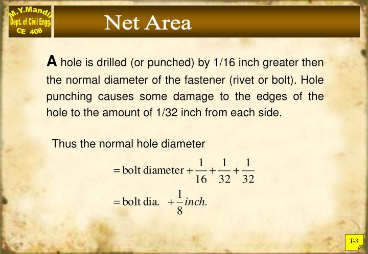 Net Area