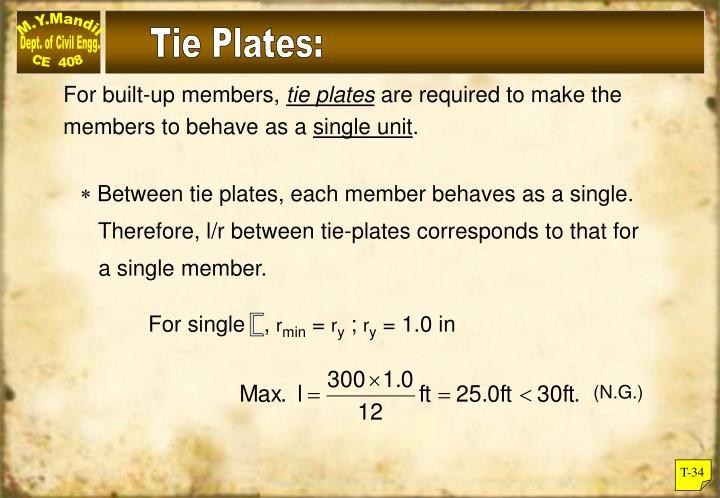 Tie Plates: